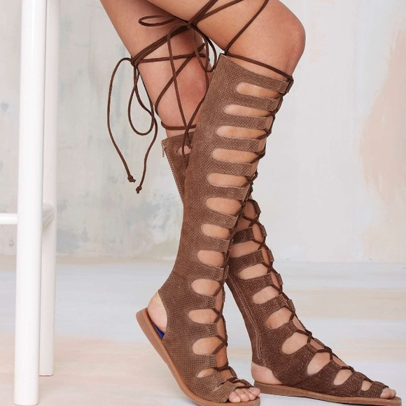 483fda5f0373 Jeffrey Campbell Shoes - Jeffrey Campbell Olympus Leather Gladiator Sandals